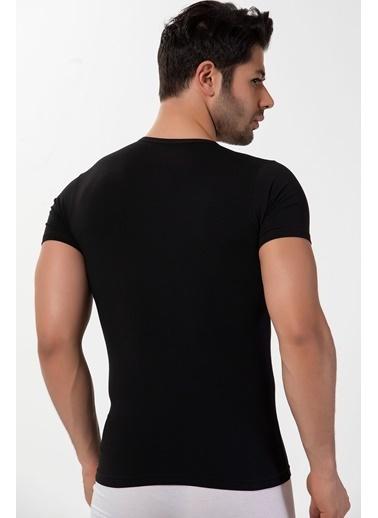 Siyah İnci Tişört Siyah